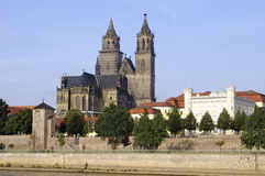 Magdeburg church Royalty Free Stock Images