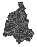 Magdeburg city map Germany DE labelled black illustration. Magdeburg city map Germany DE labelled black Royalty Free Stock Image