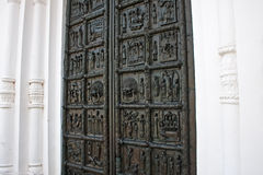 The Magdeburg Gates. Novgorod the Great. Russia. Famous bronze west entrance gates of St.Sophia Cathedral in Veliky Novgorod allegedly made in Magdeburg in 1156 Stock Photos