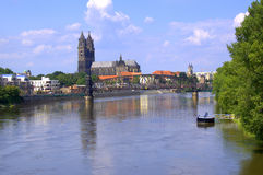 Magdeburg in Germany on JULY 2012. View of Magdeburg (Germany)  on JULY 2012 Royalty Free Stock Photo