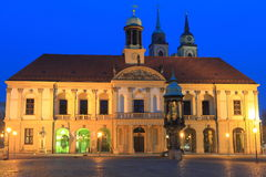 Magdeburg at night Royalty Free Stock Photography