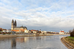 Magdeburg Skyline Royalty Free Stock Photos
