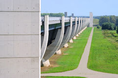 Magdeburg Water Bridge Stock Photo