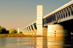 Magdeburg Water Bridge Stock Photos