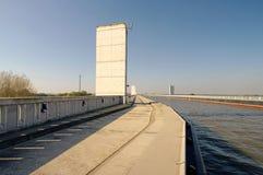 Magdeburg Water Bridge stock photography