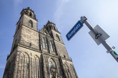 Magdeburger Dom Magdeburg Cathedral in Saxony-Anhalt / Germany stock photo
