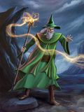 Mage casting a spell Stock Photos
