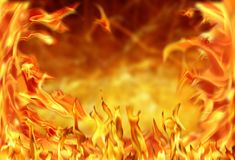 ımage of fire flame. Background image of close up abstract fire flames Stock Photo