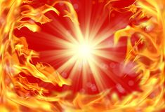 ımage of fire flame. Background image of close up abstract fire flames Stock Photography
