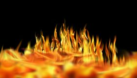 ımage of fire flames. Close up fire flames  on black background Royalty Free Stock Image