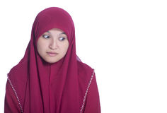 Mage of muslim girl looking down Royalty Free Stock Image