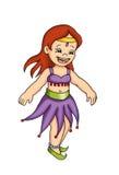 magebarndans royaltyfri illustrationer