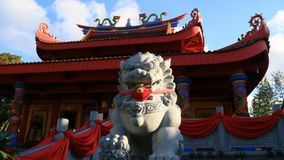 Lion statue. Magelang, Indonesia - December 23, 2017: Lion statue at Chinese Temple Liong Hok Bio in Magelang, Central Java stock photos