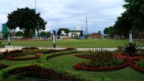 Magelang town square. Magelang, Indonesia - February 6, 2018: Magelang town square or Alun Alun. Public park in Magelang, Central Java Royalty Free Stock Images