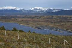 Magellan kanal i Patagonia, Chile Royaltyfria Foton
