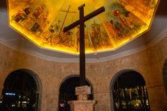 Magellan& x27;s Cross. Cebu, Philippines. Historical Magellan& x27;s Cross in night Cebu, Philippines Stock Photos