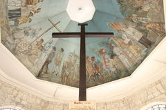 Magellans  Crux. A said to be the first cross in the Philippines, where Magellan in 1521 brought in the country before he died from the battle of Mactan. This Stock Image