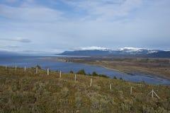 Magellan Strait in Patagonia, Chile Stock Images