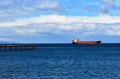 Magellandetroit Punta Arenas, Chili Stock Foto's