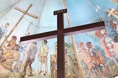Magellans Kreuz in Cebu, Philippinen Stockbild