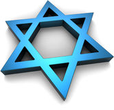 Magen David - David's Shield. Israeli / Jewish symbol Stock Photo