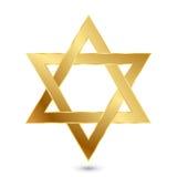 Magen David dourado (estrela de David) ilustração stock