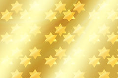 Magen David on Gold Background Royalty Free Stock Photo