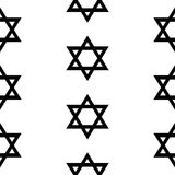 Magen David seamless pattern. On white background Royalty Free Stock Photos