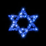 Magen David Star. Abstract illustration representing decorative David Star (Magen David) composed of blue twinkling sparkling stars as a symbol of jewish Royalty Free Stock Photo