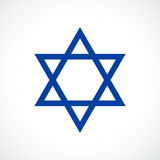 Magen David vector star icon. Illustration Royalty Free Stock Images