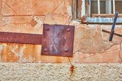 Magen Davin. Magen David on a old rusty wall, Israel Royalty Free Stock Photos