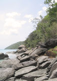 Magen's Bay Rocks. Magen's Bay, St. Thomas, US Virgin Islands If you can, please leave a comment about what you are going to use this image for. It'll help me Royalty Free Stock Image
