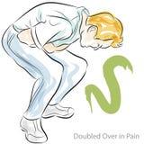 Magen smärtar royaltyfri illustrationer