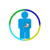 Magenperson gefährdet Stockfoto