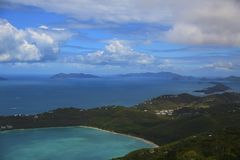 Magens Bay. A gorgeous view of Magen's Bay on the island of St. Thomas USVI Stock Image