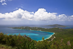 Magens Bay Overlook. Magens Bay in St. Thomas, US Virgin Islands Stock Photography