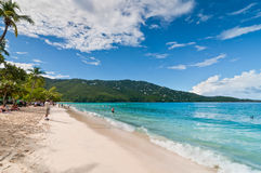 Magens Bay - the world famous beach on St Thomas in the US Virgi Royalty Free Stock Photo