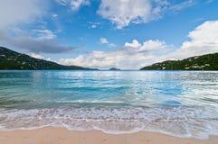 Magens zatoki plaża na St Thomas USVI Fotografia Royalty Free