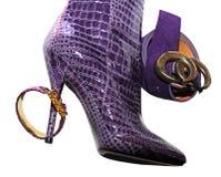 magenta ботинка женский Стоковые Фотографии RF