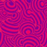Magenta и фиолетовая геометрическая striped предпосылка текстуры картины вектора сфер 3d безшовная повторяющийся Стоковые Изображения RF