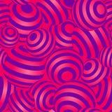 Magenta и фиолетовая предпосылка текстуры картины вектора сфер градиента 3d геометрическая striped безшовная повторяющийся Стоковая Фотография