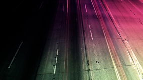Magenta Abstract Traffic time Lapse stock video