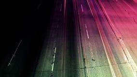 Magenta Abstrakcjonistyczny ruchu drogowego czasu upływ zbiory wideo