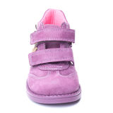 Magenta children`s boot Stock Images