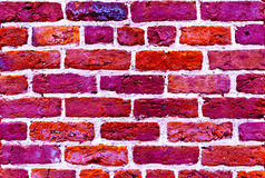 Magenta color brick wall texture background. Art vivid magenta color brick wall texture background royalty free stock photo