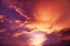 Magenta color of sunset twilight sky and cloud background. Magenta colorful color of sunset twilight sky and cloud background stock images