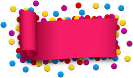 Magenta curled ribbon Royalty Free Stock Images