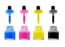 Magenta, cyan, yellow and black Stock Photos