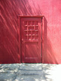 Magenta Door Stock Photo