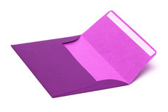 Magenta envelope isolated Royalty Free Stock Photography